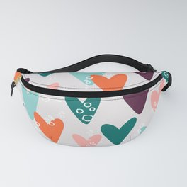 Colored hearts seamless pattern Fanny Pack