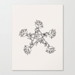 Rose Pentacle Canvas Print