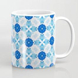 Watercolor Geometry Blue Coffee Mug