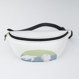 Scuba Diver Diving and Sea Turtle In The Blue Pacific Ocean print Fanny Pack
