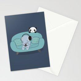 Kawaii Elephant And Panda Stationery Cards