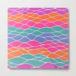 Multicolored Waves Metal Print