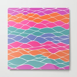 Multicolored Waves Metal Print