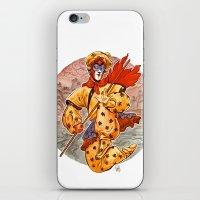 kit king iPhone & iPod Skins featuring Monkey King by Kit Seaton