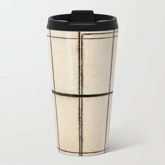 Toner Lines on Paper Metal Travel Mug