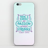 camus iPhone & iPod Skins featuring Camus on Passion by Josh LaFayette