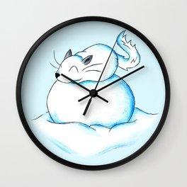 Chinchilla Snowball Wall Clock