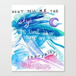 Don't Tell Me. Canvas Print