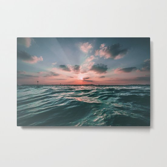 Deep Green Float Metal Print