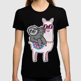 Sloth Llama Music T-shirt