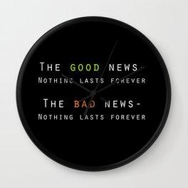 Good News, Bad News Wall Clock