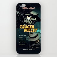 hobbes iPhone & iPod Skins featuring Calvin & Hobbes: Tracer Bullet Film Noir by Gallery 94
