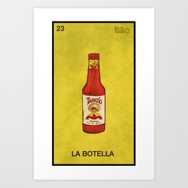 la botella Art Print