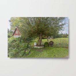 Rural Estate In North East Germany Countryside Metal Print