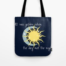 When the Day met the Night Tote Bag
