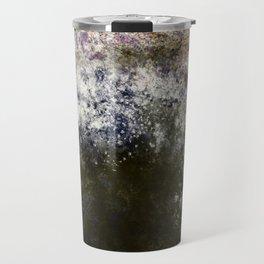Blackened Stone with Purple, Blue, Pink Travel Mug