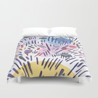 physics Duvet Covers featuring Quantum physics by Dreamy Me