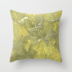 Vintage Nature Gold Throw Pillow