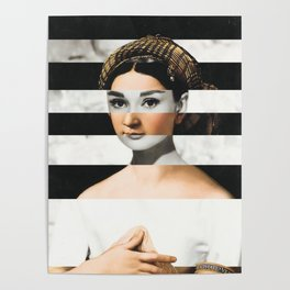 Raphael's La Fornarina & Audrey Hepburn Poster