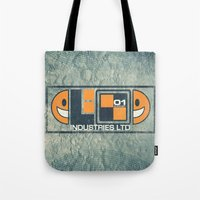 lunar Tote Bags featuring Lunar by Fanboy30