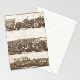 Vintage Map of Milwaukee WI (1882) Stationery Cards