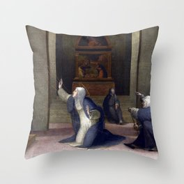 Domenico Beccafumi Saint Catherine of Siena Receiving the Stigmata Throw Pillow