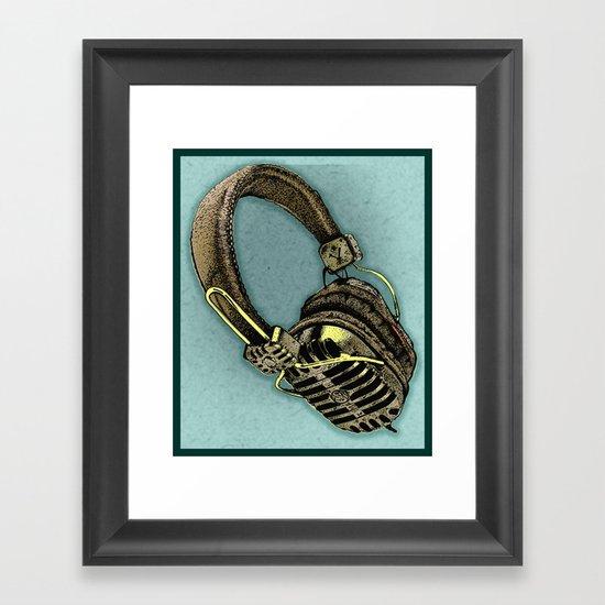 HEAD PHONE Framed Art Print