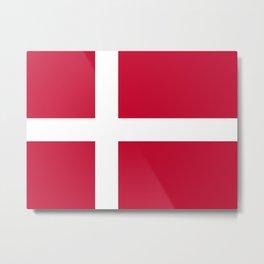 Denmark Flag Danish Patriotic Metal Print