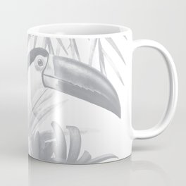 Toucans and Bromeliads - Sharkskin Grey Coffee Mug