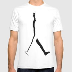 Goin Nowhere MEDIUM White Mens Fitted Tee