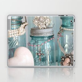 Vintage Mason Jars Shabby Chic Cottage Jeweled Decor Laptop & iPad Skin