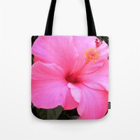 hot pink Tote Bags featuring Hot pink by Dyneli