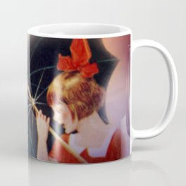 the girl and the umbrella Coffee Mug