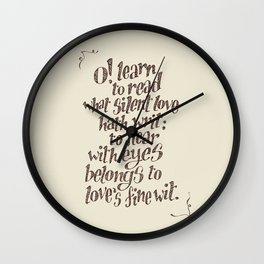 Sonnet 23 Wall Clock
