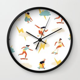 You go, girl pattern! Wall Clock