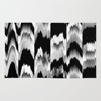 glitch Area & Throw Rugs featuring Glitch 2 by Elisabeth Fredriksson