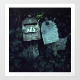 Mailboxes in Love Art Print