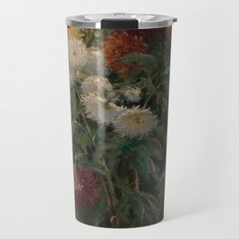 Gustave Caillebotte - Chrysanthemums in the Garden at Petit-Gennevilliers (1893) Travel Mug