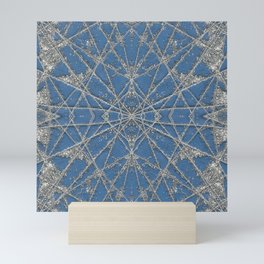 Snowflake Blue Mini Art Print