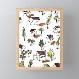 my little hometown Framed Mini Art Print
