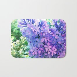 Lilacs in Bloom Bath Mat