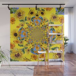 YELLOW SUNFLOWERS STORY BOOK Wall Mural