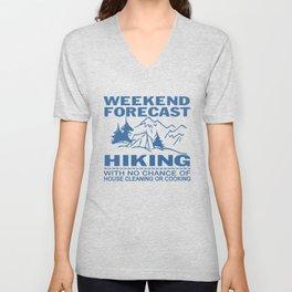 Weekend forecast hiking Unisex V-Neck