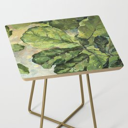 Green Leaves Side Table