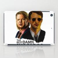 daredevil iPad Cases featuring Daredevil by IremYorukoglu