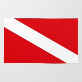 Diving flag Rug