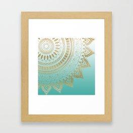 Pretty hand drawn tribal mandala elegant design Framed Art Print