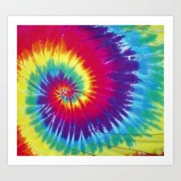 Tie dye hippie Art Print