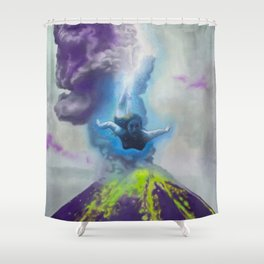 Diving In Shower Curtain