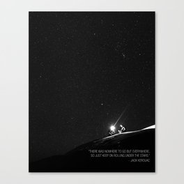 Keep on Rolling Under the Stars Canvas Print